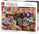 Afbeelding van King Puzzel 1000 Stukjes - Poezen in de Keuken