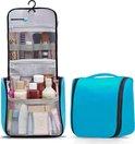 TravelMore Reis Toilettas Hangend met Haak - Travel Etui Organizer voor Toiletartikelen Kamperen & Reizen - Toilet Bag voor Mannen – Lichtblauw