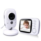VB603 Babyfoon met Camera - 3.2 Inch Video Babyphone - Baby Monitor met Kleurenmonitor - Wit