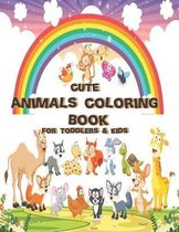 cute animals coloring book for toddlers & kids