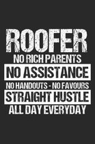 Roofer No Rich Parents No Assistance No Handouts - No Favours Straight Hustle All Day Everyday