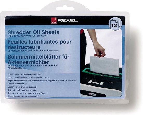 Rexel Papiervernietiger Olie Sheets- 12 Stuks