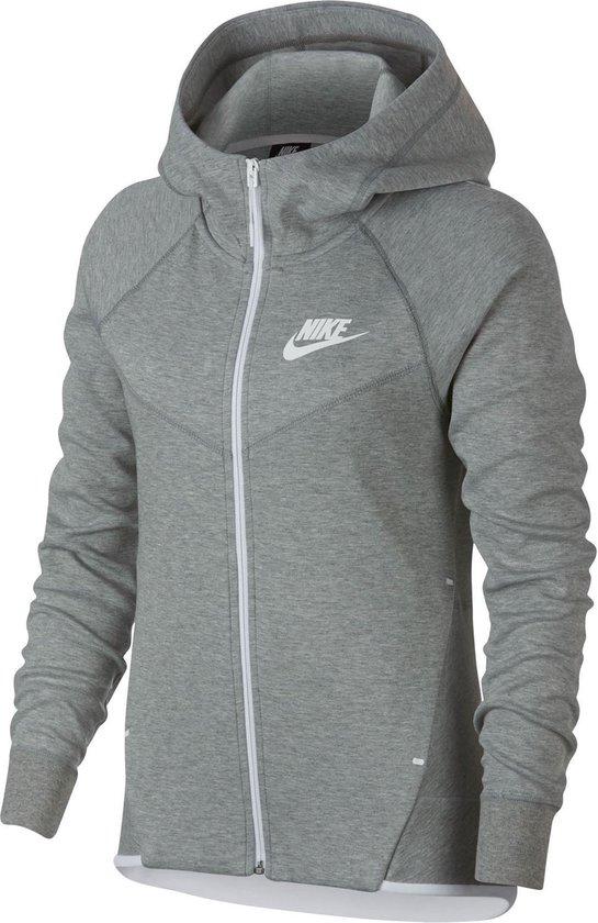 Nike Sportswear Tech Fleece Windrunner Sweatvest Dames Sporttrui - Maat L  --CONVERTVolwassenenVolwassenen - grijs/wit