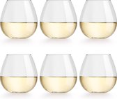 Libbey Wijnglas Cami - 470 ml / 47 cl - 6 stuks - vaatwasser veilig - geen voetje - zonder steel - modern trendy