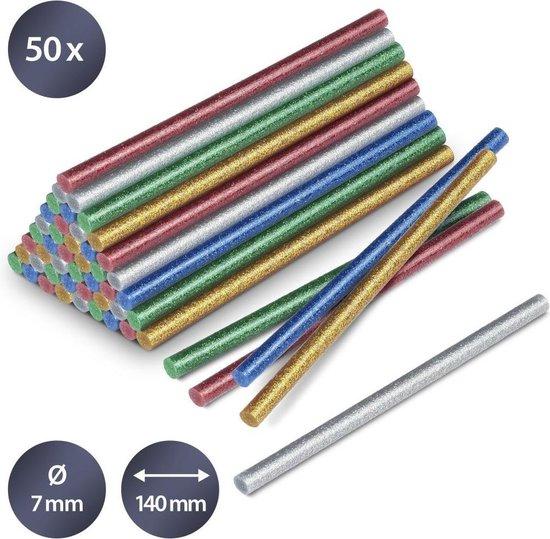 Afbeelding van TROTEC Lijmsticks-set glitter, 50 stuks (Ø 7 mm)