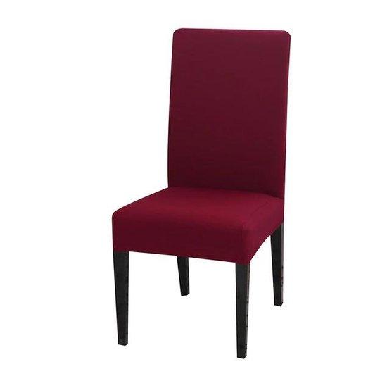 Stoelhoes voor Eetkamerstoel - 2 Stuks - Rood - Stretch Materiaal - Universele Stoelhoezen - Bescherming voor uw stoelen - Nieuw uiterlijk