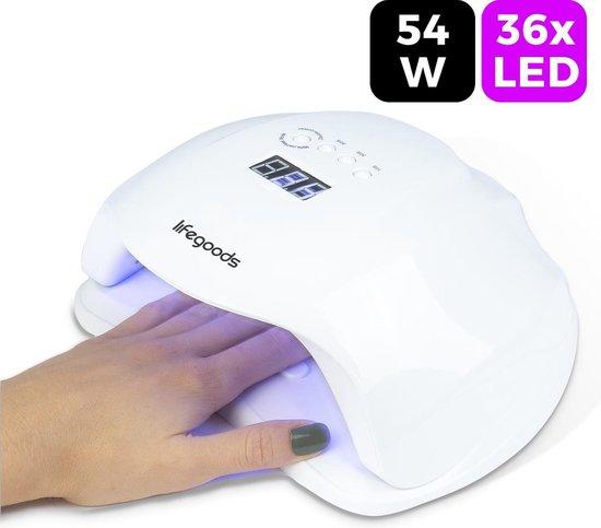 LifeGoods 54W LED Nageldroger voor Gelnagels - Geschikt voor elke Nagel Gellak - 36 LEDs