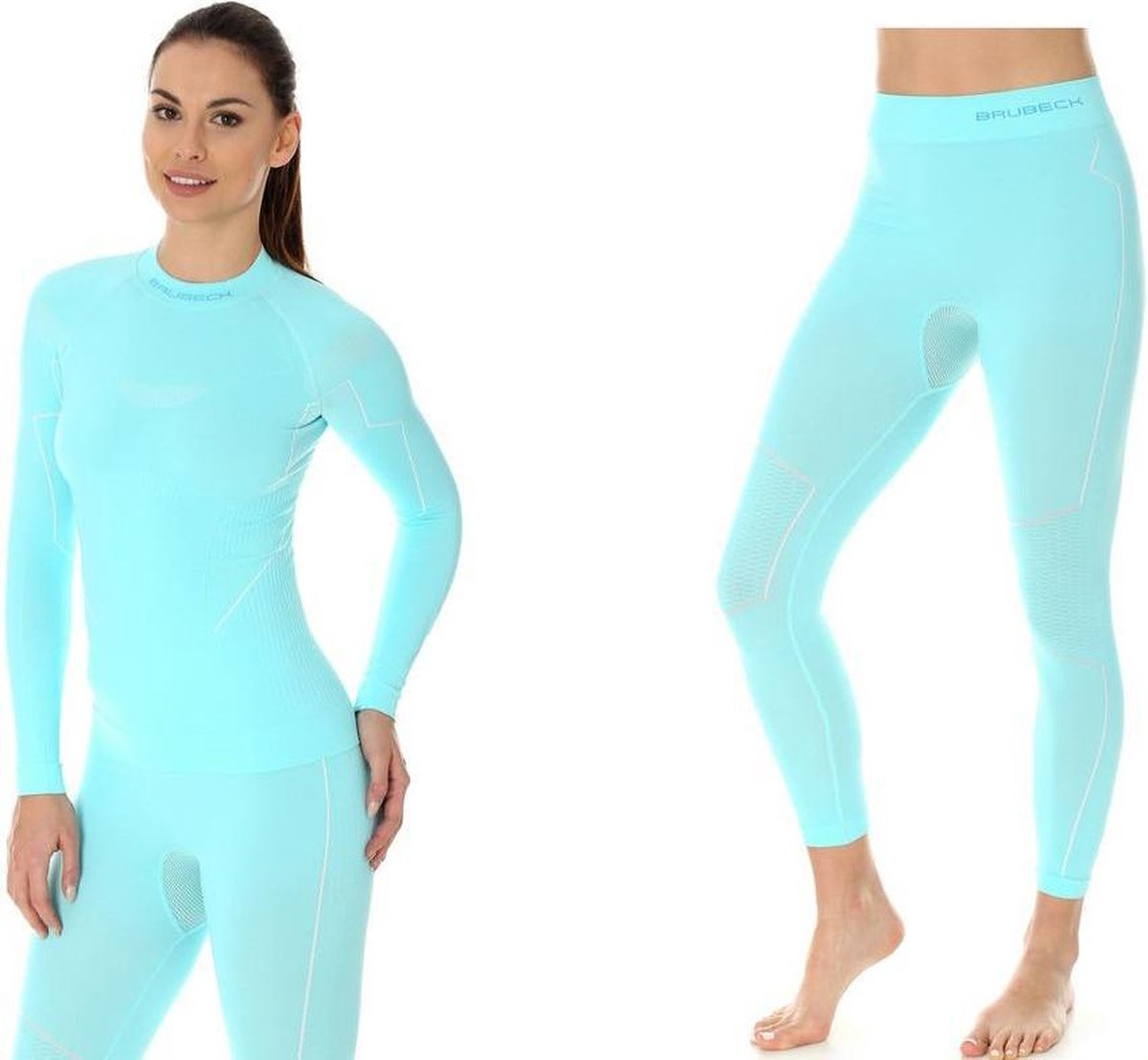Brubeck | Dames Thermo Set - Thermokleding - met Nilit® Innergy - Lichtblauw - XL