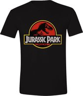Jurassic Park - Classic Logo Mannen T-Shirt - Zwart - L