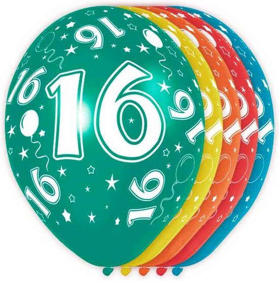 Ballonnen 16 jaar feest