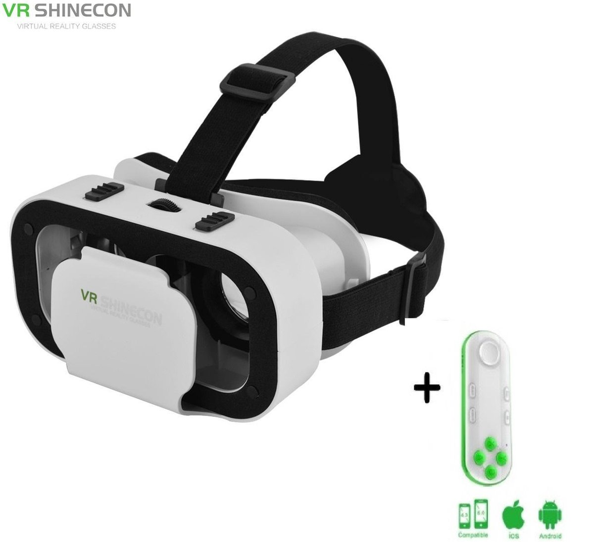 Shinecon® 5.0 Pro For Kids - 3D Virtual Reality Bril IMAX 3D - IOS/Android + Premium VR Controller Neon (Voor Kinderen)