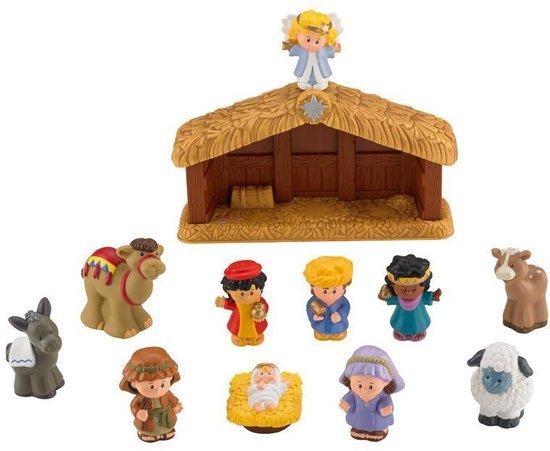 Fisher-Price Little People Kerststal - Speelfigurenset
