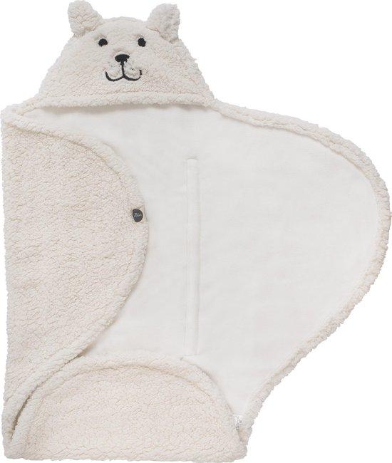 Wikkeldeken teddy Bear off-white
