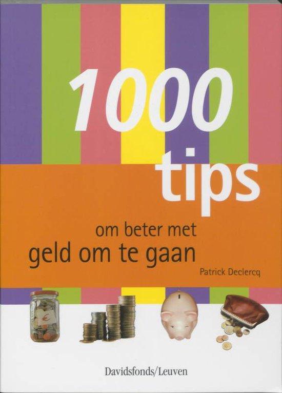 Cover van het boek '1000 tips om beter met geld om te gaan' van P. Declercq