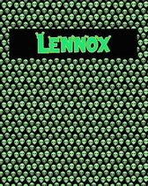 120 Page Handwriting Practice Book with Green Alien Cover Lennox