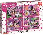 Disney Minnie's happy helpers - Set van 4 puzzels met 12, 20, 30 en 36 stukjes