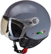 Beon Design Scooterhelm Motorhelm Luxe Nardo Grey - Maat L / 58,5 cm