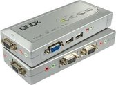 Lindy KVM Switch Compact USB Audio 4 KVM-switch