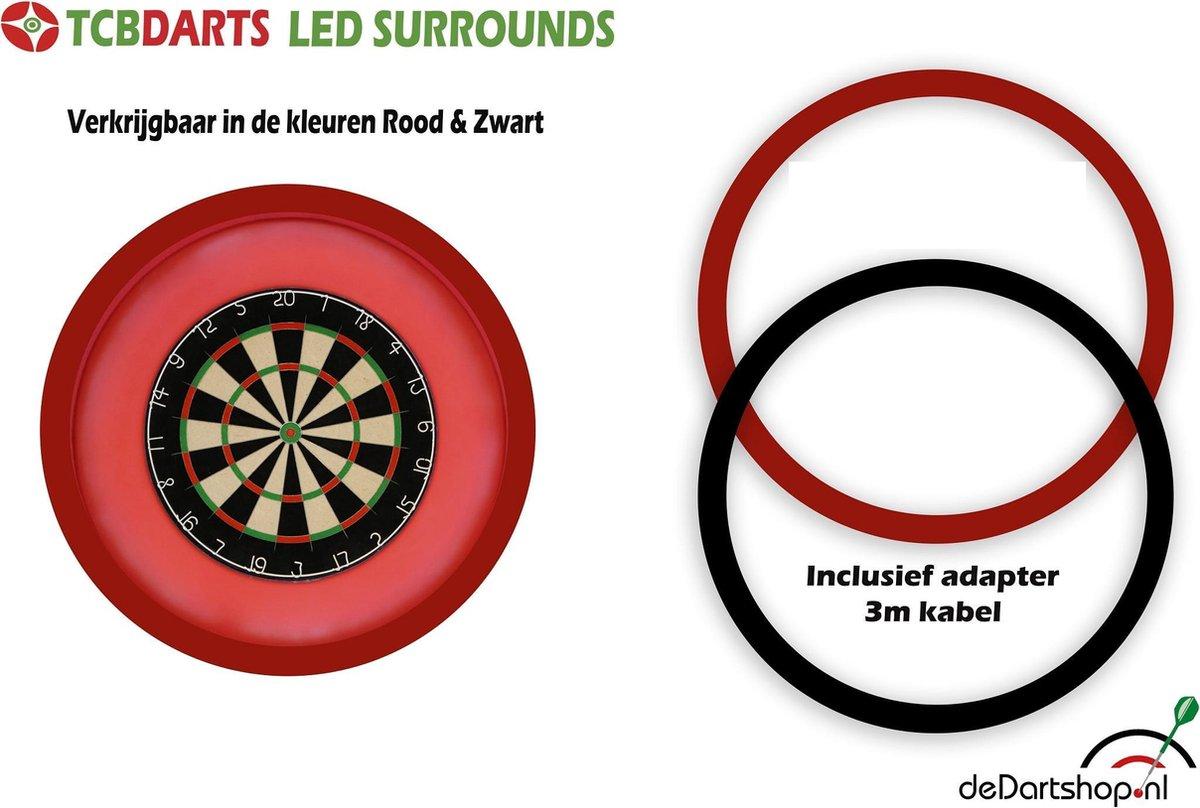 TCB Darts - Dartbord verlichting - voor om dartbord surround - Zwart
