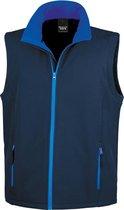 Softshell casual bodywarmer navy blauw voor heren - Outdoorkleding wandelen/zeilen - Mouwloze vesten L (40/52)