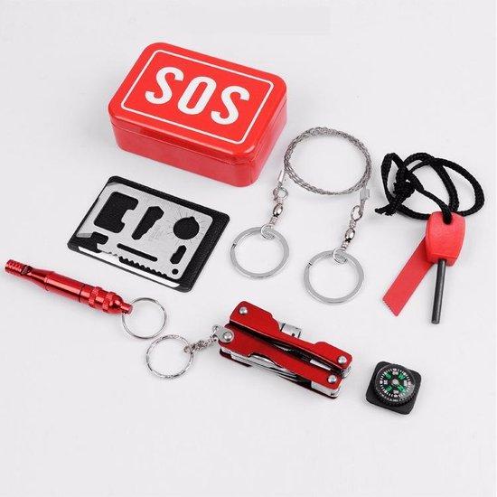 SOS kit - Survival doosje - Outdoor multi tool kit