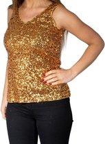 Wonderbaar bol.com | Rode glitter pailletten disco topje/ hemdje/ mouwloos FJ-68