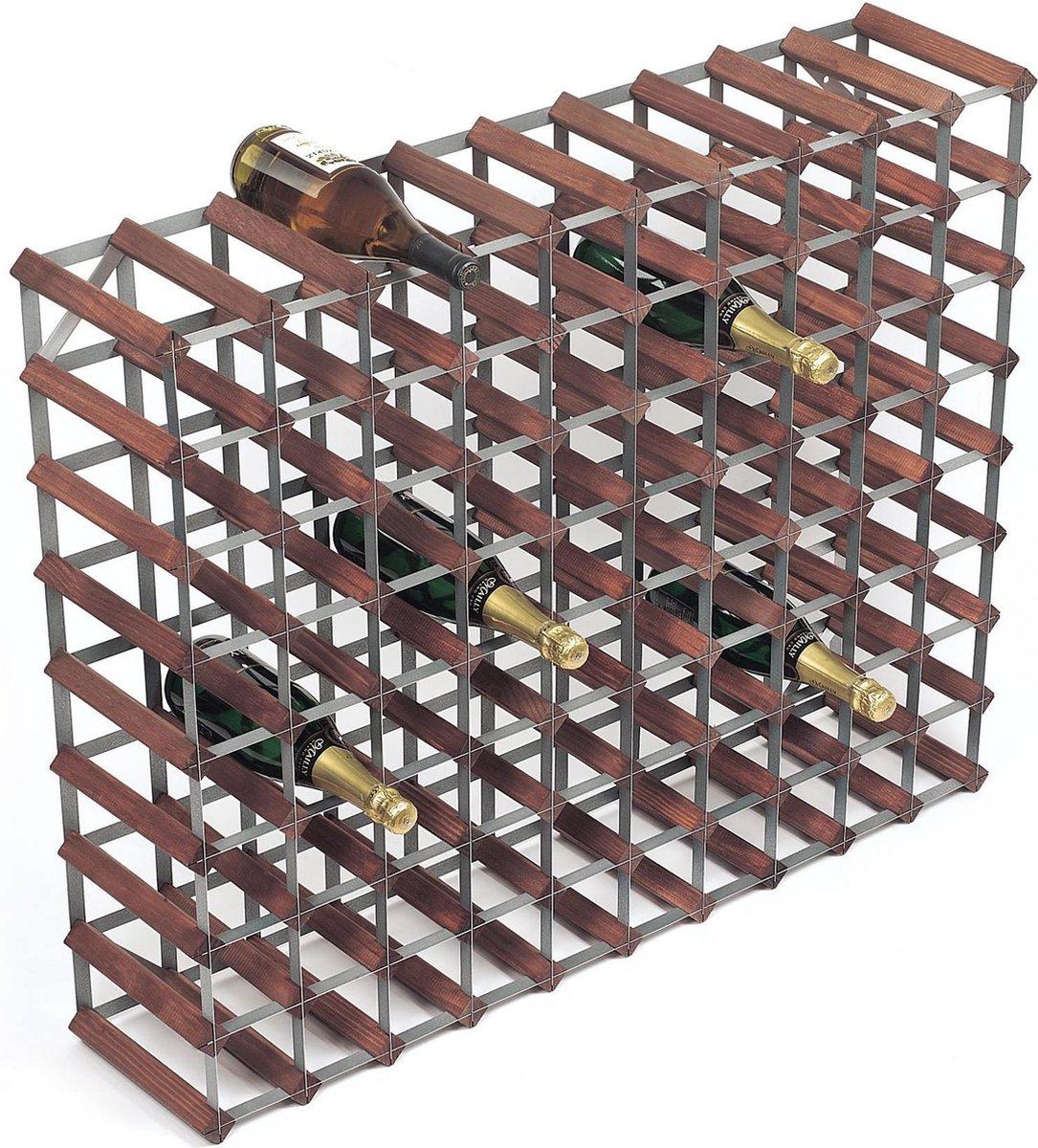 RTA Wijnrek - Donker hout - 90 Flessen - RTA