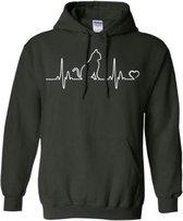 Hippe sweater | Hoodie | I Love Cats | Print Poes | maat Medium