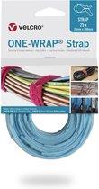 Velcro One-Wrap klittenband kabelbinders 200 x 12mm / lichtblauw (25 stuks)