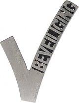 Beveiligings embleem metaal 6,5 cm