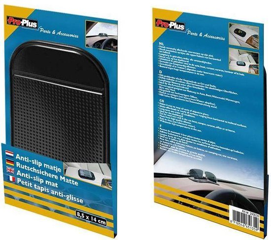 Proplus Anti-slipmat 8,5 X 14 Cm Zwart
