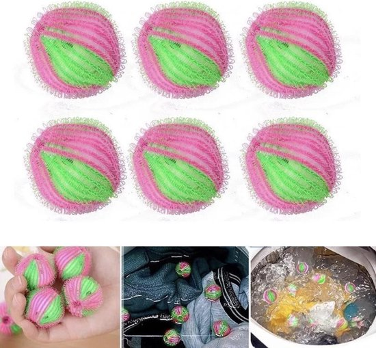 Anti-pluis wasbal van Versteeg® -Anti-pluis bal- Pluis-wasbal - Nylon Wasmachine Ballen - Wasballen Wasbol - Pluisballen 6 Stuks