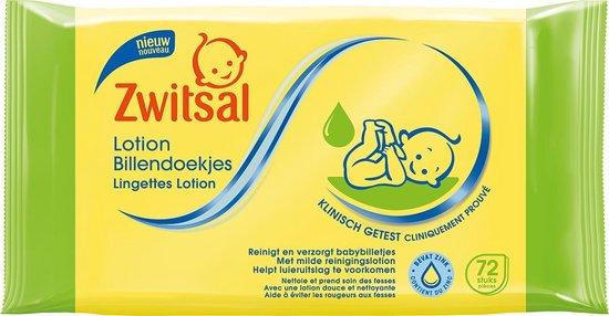 Zwitsal Billendoekjes Lotion - 24 x 72 stuks - Baby - Voordeelverpakking