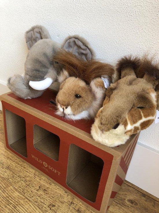 Wild & Soft Safari geschenkdoos Mini Olifant-Leeuw-Giraf