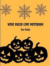 Wide Ruled Line Notebook for Kids