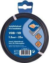 PROFILE installatiedraad VOB (België) VD (Nederland) - 1,5mm² - zwart - 25 meter