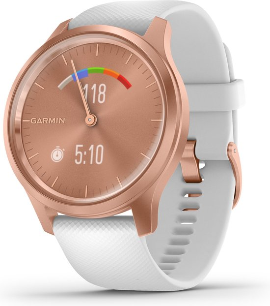 Garmin Vivomove Style - Smartwatch - 42 mm - Rozegoud/wit