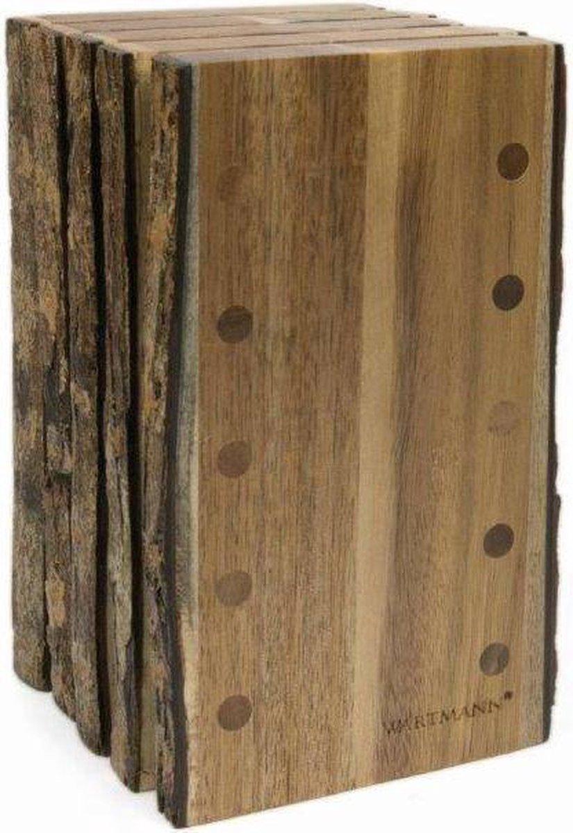 Wartmann Acaciahouten Messenblok (met schorsrand) - Wartmann