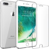iPhone 7 Plus / 8 Plus Siliconen Hoesje + Glass Screen Protector