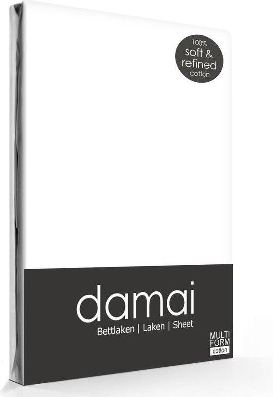 Laken katoen 240 x 260 (01) white Standaard Damai