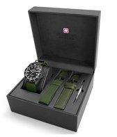Swiss Military Hanowa 06-8279.13.007SET horloge heren - groen - edelstaal