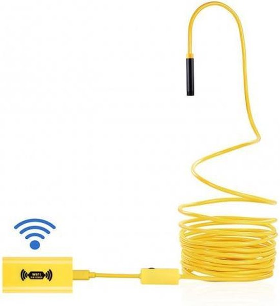 I-view Wifi Inspectiecamera / Endoscoop 10 meter - HD beeld - Buigzame kabel