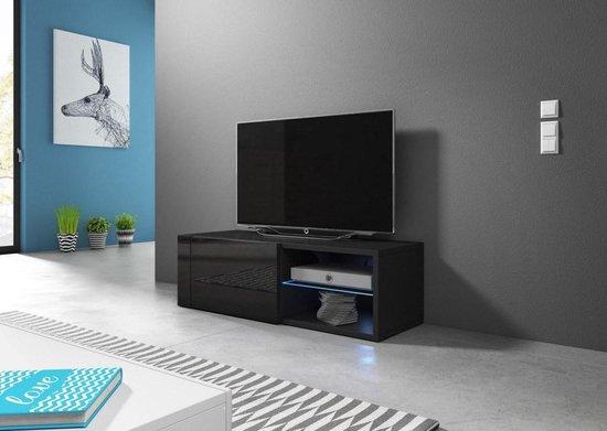 Modern Tv Meubel Zwart.Bol Com Tv Kast Meubel 100 Cm Zwart Inclusief Led Modern Design