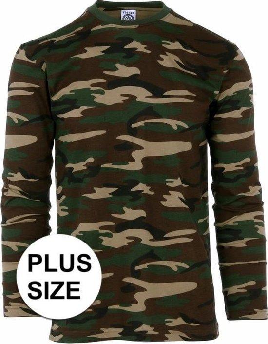 Grote maat camouflage shirt voor heren lange mouw 3XL (58)