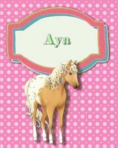 Handwriting and Illustration Story Paper 120 Pages Aya