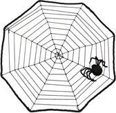 Horror spinnenweb met spin 40 x 40 cm - Halloween thema decoratie