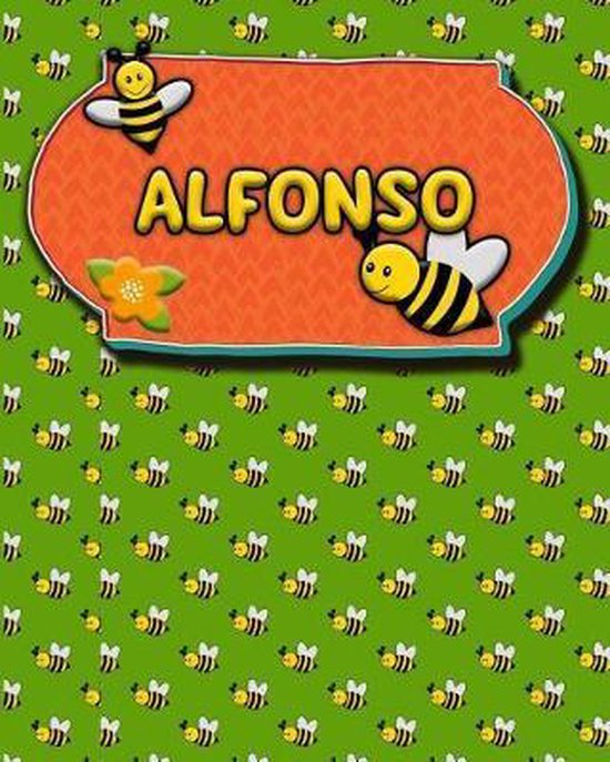 Handwriting Practice 120 Page Honey Bee Book Alfonso