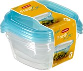 Curver Fresh&Go Vershouddoos - 3 x 0,25 l - Transparant /Precious Blauw