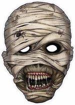 Halloween - Kartonnen horror masker mummie 21 x 29 cm