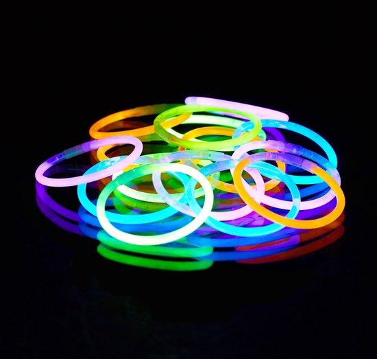 relaxdays - glowsticks 100 stuks met verbindingen - lightsticks - glow sticks